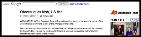 Agenturmaterial auf Google-Seiten (Screenshot)