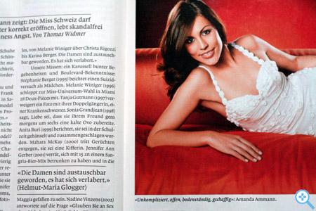 Miss Schweiz in der Weltwoche