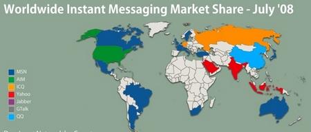 instant messaging statistik juli 08