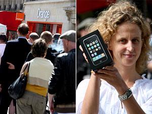 iPhone in Frankreich (Bild Keystone)