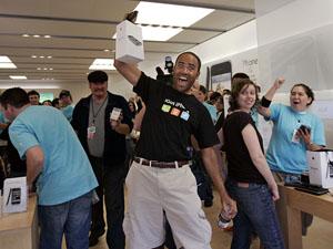 iPhone in den USA (Bild Keystone)