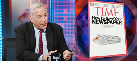 Walter Isaacson am 9. Februar in The Daily Show (4 Screenshots)