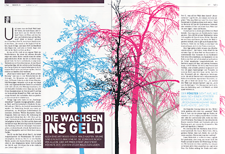 Doppelseite aus der ersten Ivy-Ausgabe