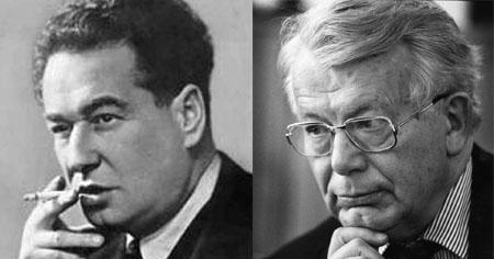 Egon Erwin Kisch und Henri Nannen (Public Domain und Keystone)
