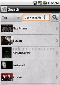 Screenshot: Androidzoom