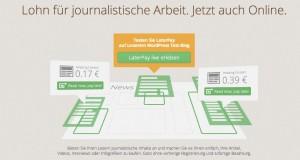"""""""Lohn für journalistische Arbeit"""" - Seitenhieb auf die Verlagsbranche"""