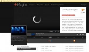 Magine im Browser: Massive Probleme
