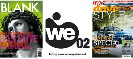 Blank, We-Magazine, Drive Style: Leer, Gehaltvoll, Glänzend