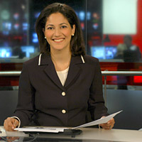 BBC World News Today: Moderatorin Mishal Husain (Bild BBC)