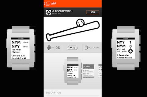 Auch eine Art von Journalismus: Die Pebble-App MLB Scorewatch informiert live über Sportergebnisse. Bild: Digital Trends
