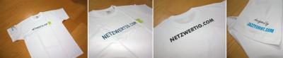 So sieht da neue Netzwertig-T-Shirt aus