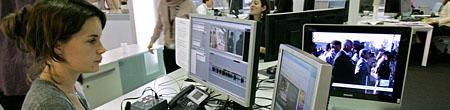 Redakteurin des Senders France 24 (Keystone)