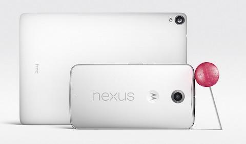 """Google Nexus 9 und Nexus 6. Das """"Kleine"""" im Vordergrund hat schon einen 6-Zoll-Screen."""