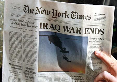 Zeitung aus der Zukunft (Keystone/AP Photo/Kathy Willens)