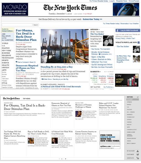 NYT (oben) vs NYT Chrome App (unten)