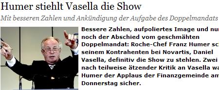 NZZ Show Humer Vasella Artikel