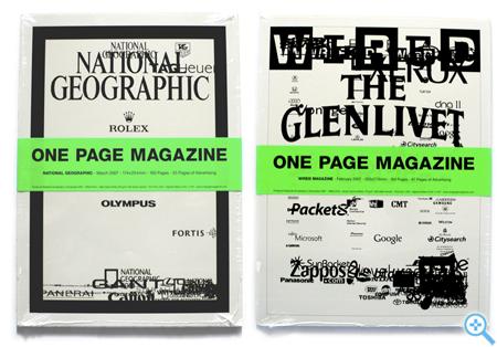 One Page Magazine (Bild Joseph Ernst)