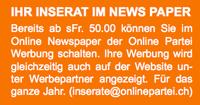 Onlinepartei Werbung