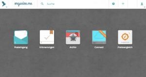 Organize.me-Startseite