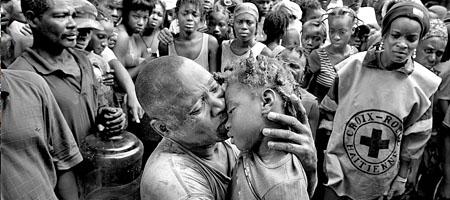 Patrick Farrell fotografierte in Haiti nach Hurrikan Ike (Keystone)