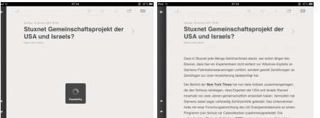 Readability-Feature in Aktion
