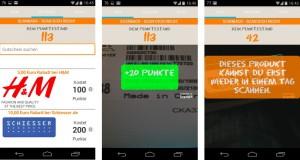 Scanback auf einem Android-Smartphone
