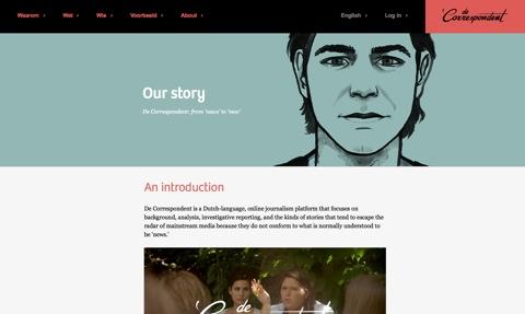 """Hochwertigen Journalismus hat sich das niederländische Projekt """"de Correspondent"""" auf die Fahnen geschrieben – mit Erfolg."""