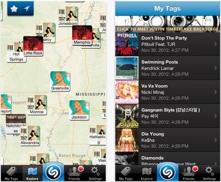 Neueste Shazam-Version kann Songs im Hintergrund taggen. Bild: Shazam