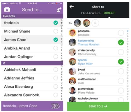 Snapchat vs Instagram Direct