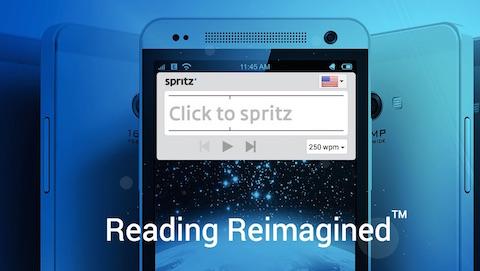Lese-App Spritz: Einzelne Wörter statt Zeilen.