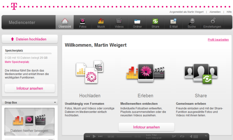 t online mediencenter telekom prescht beim onlinespeicher vor f rderland. Black Bedroom Furniture Sets. Home Design Ideas