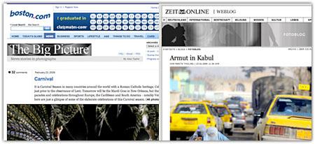 The Big Picture und das Zeit Online Fotoblog Seite an Seite