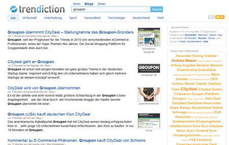 Trendiction Suchergebnisse