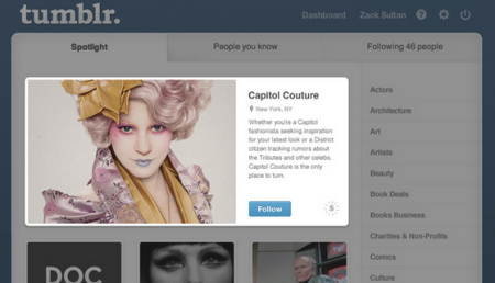 Native Ads bei Tumblr