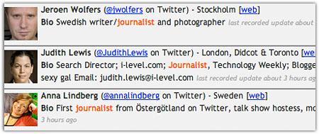 Journalisten in London, Östergötland und Stockholm: tweepsearch.com