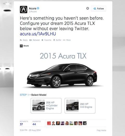 Twitter Card mit interaktiver Werbung. Shot: Substraction.com