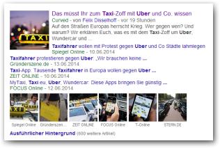 Uber und WunderCar