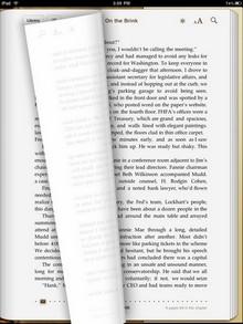 Umblättern auf dem iPad: Schön, aber nutzlos.