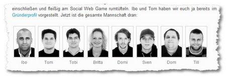 Das Team von United Prototype präsentiert sich auf der Website. (Screenshot)