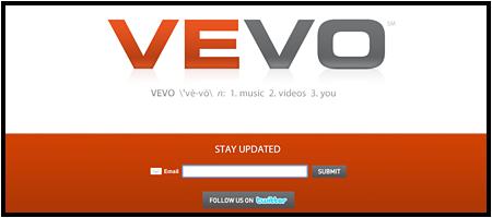 Vevo: Musikvideos von Universal und teure Anzeigen (Screenshot)