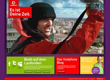 Esistdeinezeit.de: Microsite zur Vodafone-Kampagne