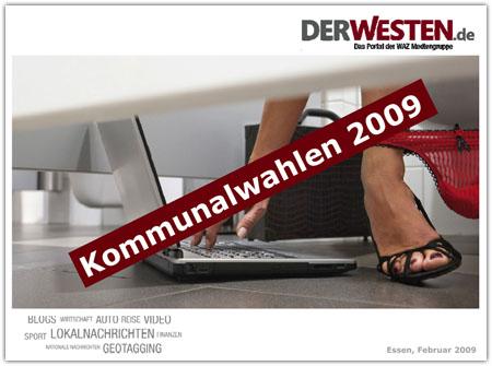 WAZ-Präsentation: Kommunalwahl für den Arsch?