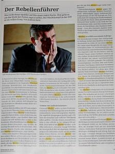 24 Mal Blocher in einem Artikel über Peter Spuhler (Weltwoche vom 27. November 2008)