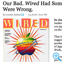 Wired was wrong (Screenshot wired.com)