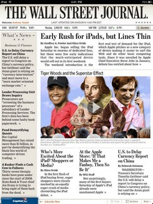 Wall Street Journal auf Apples iPad