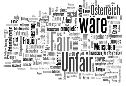 'Österreich wäre Fair Unfair'? Ein besonderer Blick auf die Wahlprogramme