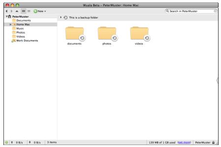 Wualas überarbeiteter Desktop-Client