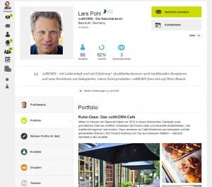 Neues Xing-Profil am Beispiel eines Unternehmers
