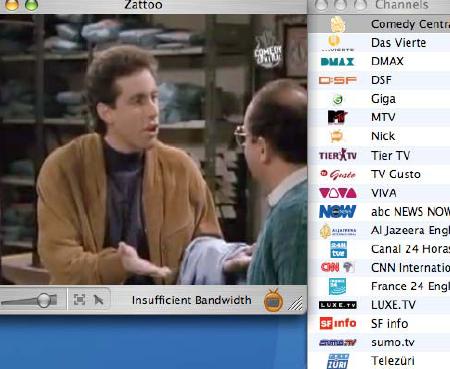 Internet-Fernsehen Zattoo