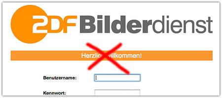 ZDF-Bilderdienst: Online-Medien bitte draußen bleiben?
